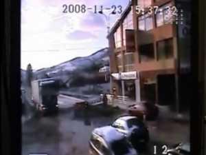 Accident mortal, surprins de camerele de supraveghere video