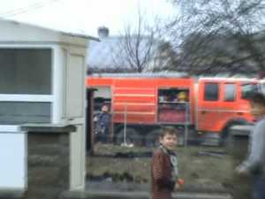 Incendiu în curtea Grupului Şcolar din Dumbrăveni