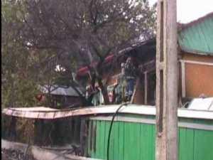 Incendiu într-o gospodărie, de la o butelie defectă