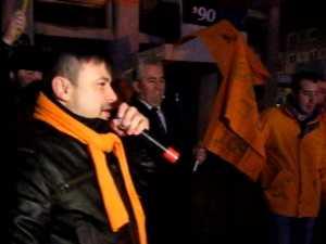 PDL-istii au sarbatorit victoria lui Basescu in centrul Sucevei
