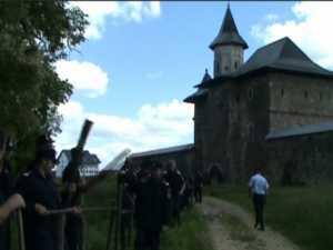 Lizieră de protecţie împotriva alunecărilor de teren, la Mănăstirea Zamca