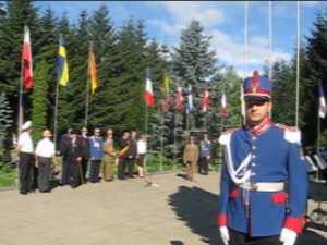 Ceremonie publică de intonare a imnului naţional în centrul Sucevei