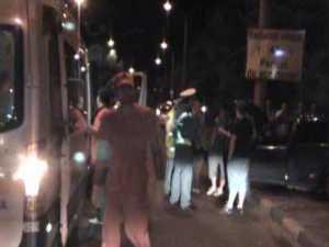 Acidentat grav, după ce s-a oprit cu maşina într-un stâlp, pe Calea Unirii