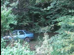 Pierdut maşină în pădurea de la Adâncata