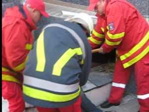 Salvat de pompieri după ce rămăsese imobilizat, în căutarea unui adăpost