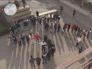 """Protest mut, de doar câteva minute, la Universitatea """"Ştefan cel Mare"""""""