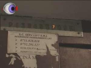 Liftul dintr-un turn din cartierul George Enescu a ars în întregime