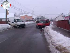 Accident pe strada Gheorghe Doja din Suceava