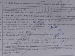 Proba de matematică de la evaluarea naţională nu a pus probleme elevilor examinaţi