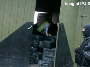 Peste 1.000.000 de ţigări de contrabandă, găsite în această dimineaţă într-o şură din Vicovu de Sus
