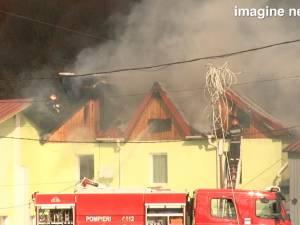 Incendiu la o firmă de prelucrare a lemnului din Frasin