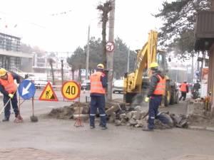 A început extinderea străzii Universității și a bulevardului George Enescu din municipiul Suceava