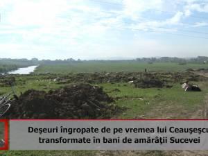Deşeuri îngropate de pe vremea lui Ceauşescu, transformate în bani de amărâţii Sucevei