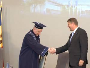 Preşedintele Republicii Moldova a fost distins cu titlul de Doctor Honoris Causa al Universităţii din Suceava