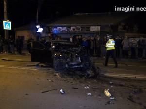 Pieton omorât la Grupul Şcolar, după ce a fost lovit violent de un BMW şi proiectat în alte două maşini