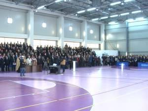 """Bază sportivă modernă, inaugurată la Colegiul Naţional """"Ştefan cel Mare"""" la ceas aniversar"""
