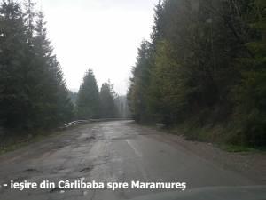 Dezastrul în imagini de pe drumul naţional Suceava-Maramureş
