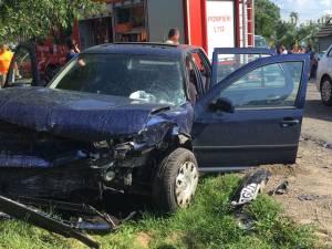 Patru maşini, implicate într-un accident în lanţ, la Vicovu de Sus