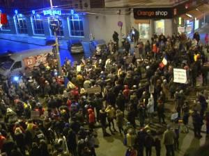 Protest pe străzile Sucevei, şi vineri seară