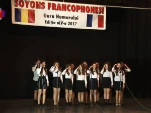 """Peste 300 de elevi suceveni au celebrat limba franceză în cadrul  festivalului """"Soyons francophones!"""""""