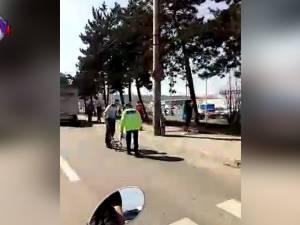Bărbat accidentat grav pe o trecere de pietoni semaforizată de pe Calea Unirii