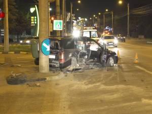 Un şofer beat care a trecut pe roşu a provocat un accident într-o intersecţie din Suceava