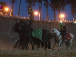 Cascadoriile cu cai, frumoasele surprize ale Festivalului Medieval de la Suceava