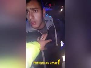 Șofer de 19 ani, încătușat după ce ar fi vrut să dea cu BMW-ul peste un polițist