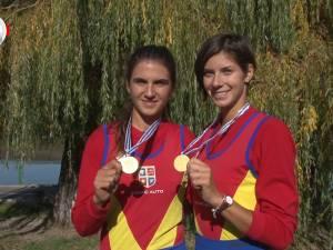 Gianina, Ionela şi Viviana, fetele de aur ale canotajului românesc