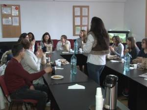 Studenţi belgieni, viitori educatori în învăţământul special, în practică la Centrul de Educaţie Incluzivă Gura Humorului