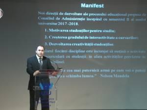 Manifest pentru schimbarea modului de predare în Universitatea Suceava, susţinut de reprezentanţii instituţiei