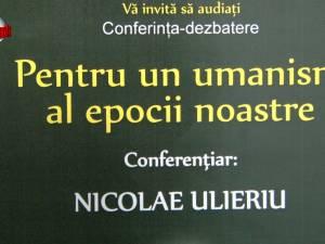 """""""Pentru un umanism al epocii noastre"""", conferință susținută la USV de profesorul Nicolae Ulieriu"""