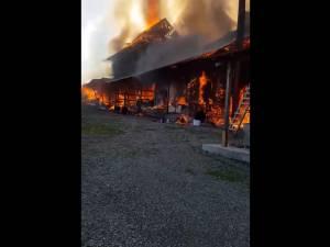 """Flăcări apocaliptice au distrus chiliile Mănăstirii """"Sf. Mina"""""""