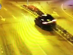 Manevre ca la raliu în centrul Sucevei, cu o mașină scăpată de sub control