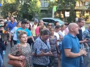 Câteva sute de suceveni s-au solidarizat aseară cu mitingul diasporei de la Bucureşti
