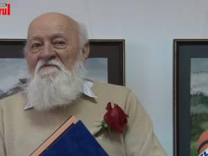 Dumitru Rusu, unul dintre cei mai buni acuarelişti ai Bucovinei, aniversat la împlinirea vârstei de 80 de ani