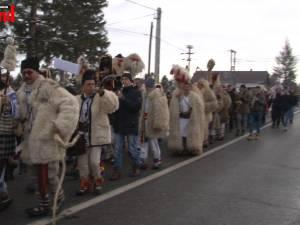 Parada obiceiurilor de iarnă la Drăgușeni, de Anul Nou pe stil vechi