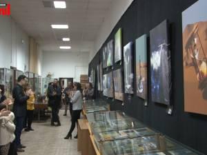 """Momente emoţionante la expoziţia de grafică digitală """"Îngeri pentru înger"""", la Biblioteca Bucovinei"""