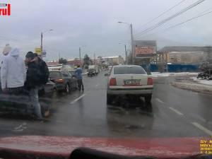 Patru autoturisme au fost implicate într-un accident în lanț, pe Calea Unirii din Suceava