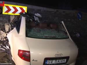 """O nouă tragedie la """"Zidul morţii"""": un tânăr de 28 de ani a murit după ce maşina pe care o conducea a intrat în pilonul zidului cu 140 km/h"""