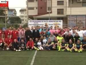 Poliţiştii au jucat fotbal în scop caritabil în memoria colegului ucis mişeleşte pe peronul Gării Burdujeni
