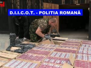 Vicovean reținut pentru contrabandă: peste 26.000 de pachete de țigări au fost găsite în garajul său