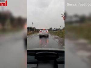 Echipaj rutier de la Iași, venit în control la Suceava, filmat în timp ce face manevre neregulamentare sau imprudente în trafic