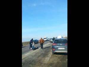 Pieton lovit de mașină lângă metrul de autostradă de la Cumpărătura