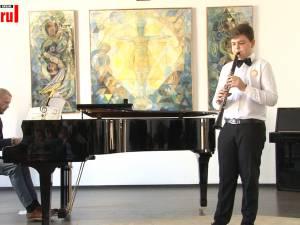 """Alexandru Vlădianu, clarinet, a câştigat trofeul Concursului """"Cel mai bun interpret"""""""