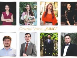 """Două piese înregistrate de la distanță, online, de Grupul Vocal """"Sing"""""""
