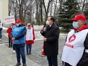 Prefectul de Suceava i-a asigurat pe sindicaliștii SANITAS de susținere pentru rezolvarea revendicărilor lor
