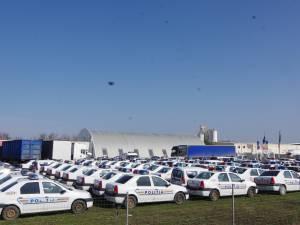 Peste 150 de mașini de poliție, pregătite pentru ultimul drum