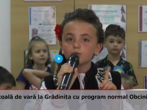 Școala de vară la Grădinița cu program normal Obcini