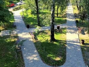 Parcul Simion Florea Marian a fost modernizat, odată cu strada și parcarea aferentă